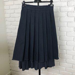 kokomarina navy blue midi skirt
